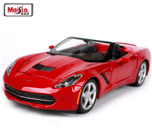 Maisto 1:24 2014 Corvettes STINGRAY Alloy Diecast Model Car Toy For baby Gifts Toys With New Original Box Free Shipping