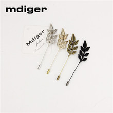 Mdiger Pin Up Shirt Accessories Jewelry Unisex Fashion Men's Suits Brooches Leaves Alloy Collar Lapel Pin Buttons 10 PCS/LOT