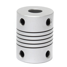7x7mm Motor Jaw Shaft Coupler 7mm To 7mm Flexible Coupling OD Aluminum 19x25mm 3D Printer Router Connector