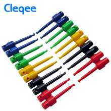 Cleqee P5001 20pcs Multimeter Lead Wire Kit Test Hook Clip Grabbers Test Probe SMT/SMD IC D20 Cable Welding