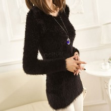 New Long Knitted Sweaters 2015 Autumn Winter Sweater Women Pullover Fall Solid Color O-neck Basic Slim oversize50