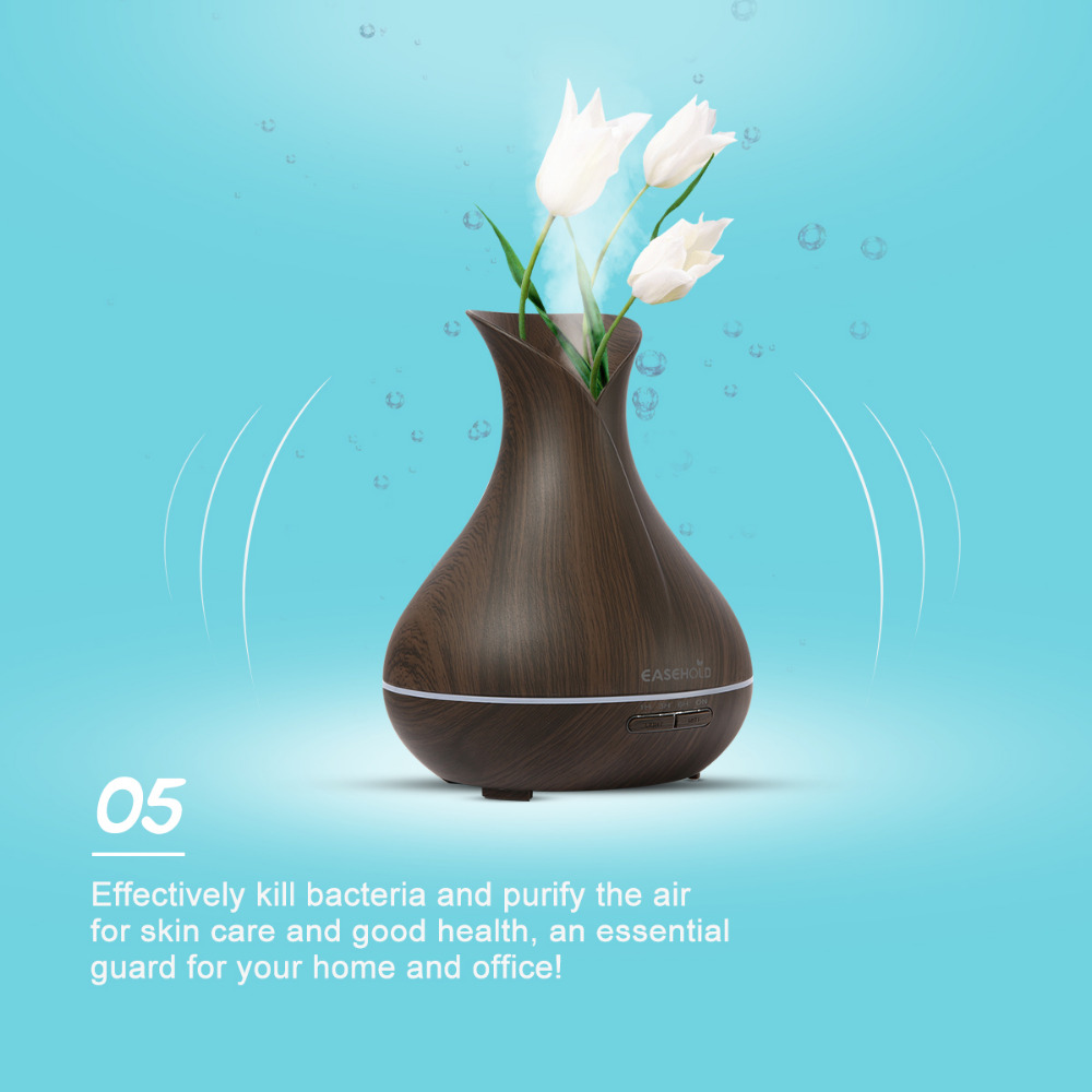 EASEHOLD Essential Oil Diffuser Air Humidifier Aroma Lamp Aromatherapy Electric Ultrasonic Aroma Diffuser Mist Maker for Office