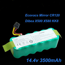 14.4V SC NI-MH rechargeable battery vacuum cleaner battery 3500mAh for Ecovacs Mirror CR120 Dibea X500 X580 kk8 sweeping robot