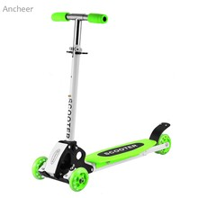 Alloy and steel Foot Scooters Adult Children Scooter Kick scooters Adjustable Folding Kickboard 3 Wheels Skateboard for Kids(China)