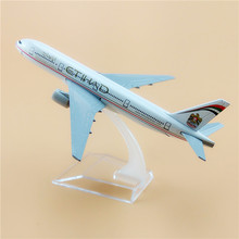 16cm Alloy Metal Air Etihad B777 Airlines Plane Model Aircraft Boeing 777 Airways Airplane Model Stand Gifts Free Shipping(China)