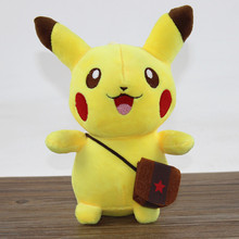 2015 New Baby Toys 20cm Pikachu Plush Toy High Quality Very Cute Pokemon Plush Stuffed Animals Soft Toys For Children's Gift