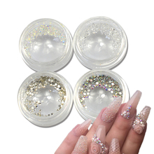 250pcs Nail Art Decorations Rhinestones Glass Stones Flatback Small Size Tiny Zircon/Gem/Sequin 4 Styles 3d Glitter Tips TRNJ257