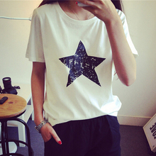 Buy Star Print Loose Style T-shirt Women Short Sleeve Cotton Comfortable Women Tshirt Top Fashion Roupas Feminina Casual Camiseta for $3.94 in AliExpress store