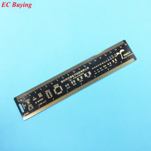 1 pcs Multifunctional PCB Ruler 20cm Measuring Tool Resistor Capacitor Chip IC SMD Diode Transistor Package Electronic Stocks