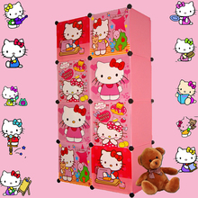 8 cubes Children's Cartoon Wardrobe Closet Storage Cabinet Clothing Armoire Kids Closet Organizer storage organizers