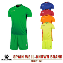 KELME Official Authentic Men High Quality Brand Soccer Jersey Set Football Enfant Kits Summer Short Sleeve Training Suit 63(China)
