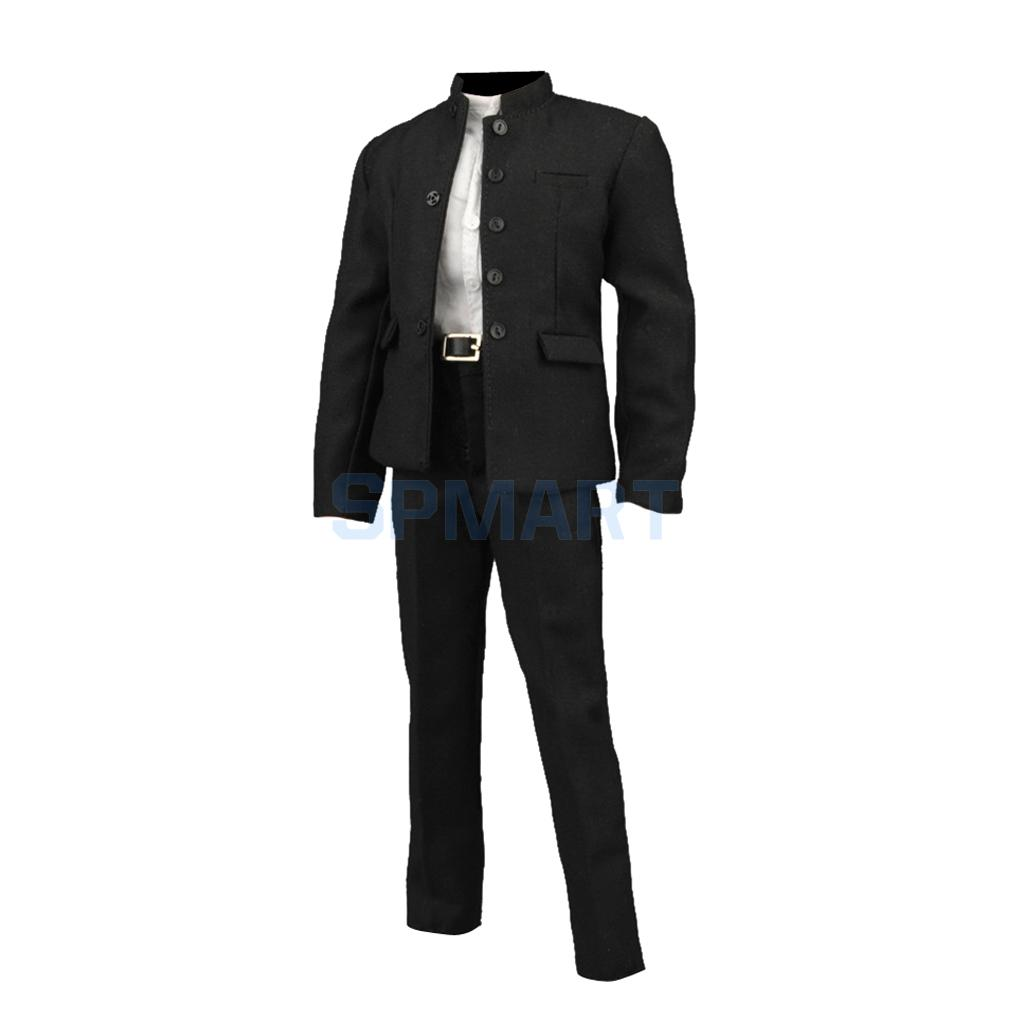 "1//6 Scale Male Business Suit Coat//Pants//Shirt//Tie For 12/"" Male Hot Toys Figure"