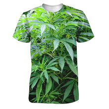 6 styles Real American size weed leaves 3D Sublimatin print  high quality T-shirt Custom Made Clothing plus size