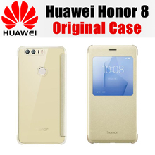 100% official original huawei honor 8 case PC+PU Flip Leather Case cover for HUAWEI honor 8 (5.2 inch) cases carcasa For honor8(China)