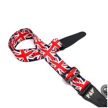 Free shipping British union jack guitar belt, electric guitar straps, good guitar accessories(China)