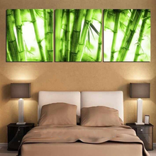 3 Piece NO Framed Canvas Photo Prints Green Bamboo Forest Artwork Giclee Paintings Home Decor Canvas Wall Art Fashion Paintings(China)