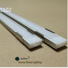 5-30pcs/lot 1m 40inch/pc aluminum profile for led strip,led channel for 8-11mm PCB board led bar light,YD-1102(China)