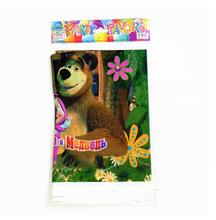 masha and bear disposable plastic tablecover 108*180cm tablecloth for kids happy birthday party decoration supplies
