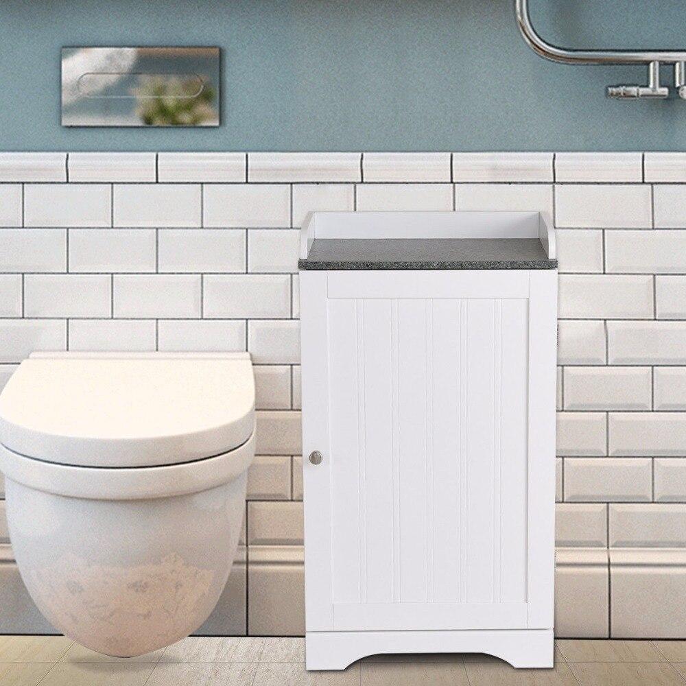 Giantex Bathroom Floor Storage Cabinet Freestanding Adjustable Shelves W/Single Door NEW Modern Bathroom Furniture HW57076 1