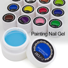 1pcs 3D Nail Art Paint Draw Painting Acrylic Color UV Gel Painted Nail Gel Polish 12 Colorful Paint Lacquer Vernis