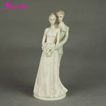Free Shipping Cake Topper For Wedding Ceramic Wedding Supplier Porcelainous Cake Decoration Bride and Bridegroom Cake Topper
