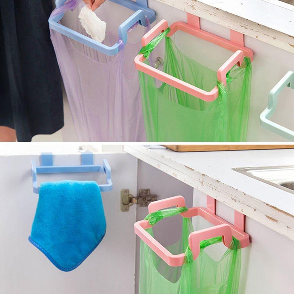 Kitchen Gadgets Shelf Storage-Trash-Rack Hanging Cabinet-Door Garbage-Bag 1pcs Goods title=