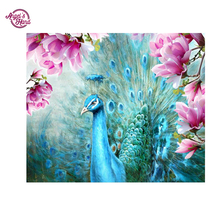 "ANGEL'S HAND 5d diy diamond painting round full cube diamond embroidery ""peacock"" pattern hobbies and diamond mosaic"