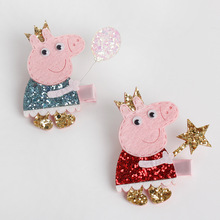 1 PCS New Baby Hairgrips Girls Hair Clips Cute Flash Pig Hair Accessories Infant Headwear Hairpin For Children Barrette(China)