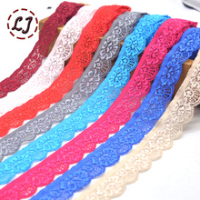 New hot sale 5yd/lot High Quality Elastic Lace Trim ribbon For Sewing crafts underwear decoration lace handmade accessories DIY