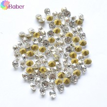 3D Rhinestone Decoration gel Nail Deco Charms Crystal Accessories Nail Piercing Gems Glitter Stars Stones for Clothes Decoration