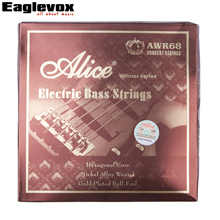 Alice Electric Bass Strings for 5 String Bass Nickel Alloy Wound Hexagonal Core Gold Plated Ball End 045-130 inch
