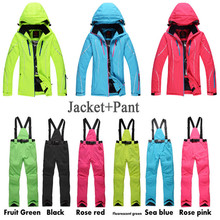 Women Ski Suit Set Outdoor Sports Ladies Snowboard Clothing 10K Waterproof Windproof Winter Custome Snow Jackets + Pants