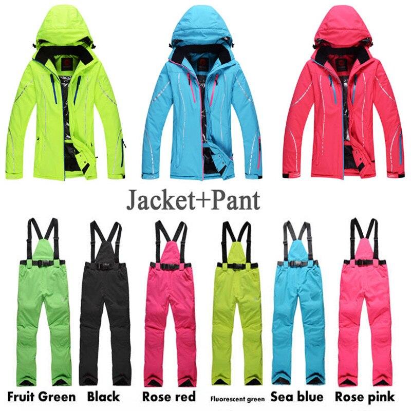 Women Ski Suit Set Outdoor Sports Ladies Snowboard Clothing 10K Waterproof Windproof Winter Custome Snow Jackets + Pants<br><br>Aliexpress