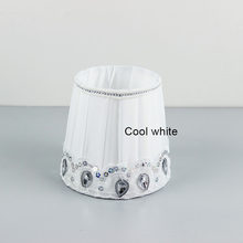 Popular acrylic lamp shades buy cheap acrylic lamp shades lots from cool white wall lamp fabric lampshade with acrylic beads small lamp shades e27 hole 42cm aloadofball Image collections