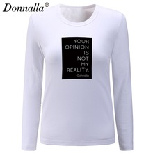 Buy Donnalla T Shirt Women Clothes Tshirt Long Sleeve Tops Womens Clothing T-Shirts Casual Tee Shirt Femme Poleras Mujer for $19.99 in AliExpress store