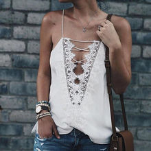 New Top Women Shirts Summer Bralette Lace Vest Top Sleeveless Casual Tops Lace Up Shirt Camis