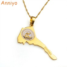 Anniyo(Product Back With Brand Logo)Eritrea Map Gold/Silver Color Necklaces African Eritrean Country Map Jewelry #076706(China)