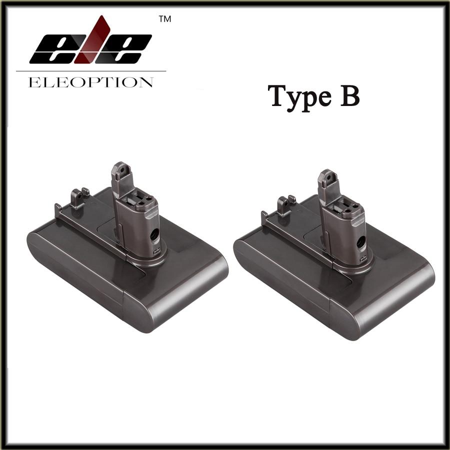 2 PCS Eleoption Replacement Power Tool Battery 22.2V 2.0Ah 2000mah Li-ion Type B for Dyson DC31 / DC34/DC35/DC44 /DC 45<br>