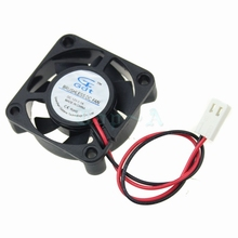 Gdstime 2pcs 2P-2510 Connector 12V 40mmx40mmx10mm 7 Blade 4010 Sleeve PC CPU VGA Heatsink Brushless Cooler DC Cooling Fan 4cm(China)