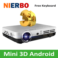 Best Pocket Projector 1280x800 Mini 3D Portable Wireless Projector 1080P for cell phone video game movies with Cheap Price