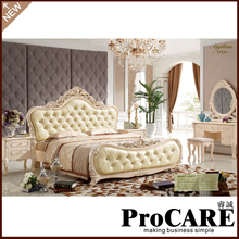 European royal style bedroom furniture with big dressing table