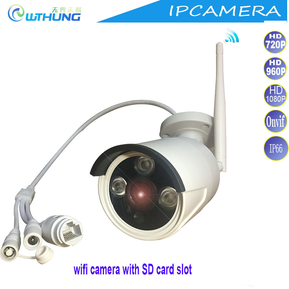 Wireless wired IP Wifi Camera 720P 960P 1080P CMOS Sensor Support SD card Max64G motion detector for Security IP WebCam monitor<br>
