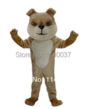 mascot Best Quality Tan Bulldog Mascot Costume Adult Size Dogs Cartoon STAGE PERFORMANCE COSTUME Party Cosply Fancy Dress(China)