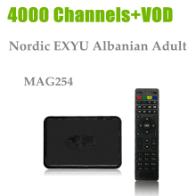 GOTiT MAG254+Germany IPTV+USB WiFi 4000+Channels French Adult HotClub VOD Ski DE UK IT Cana1+Linux OS STiH207 MAG 254 IPTV Box