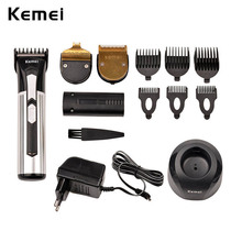 220-240V + Extra Battery 3-in-1 Kemei Professional Hair Trimmer Electric Rechargeable Hair Clipper Beard Shaver Cutting Kit