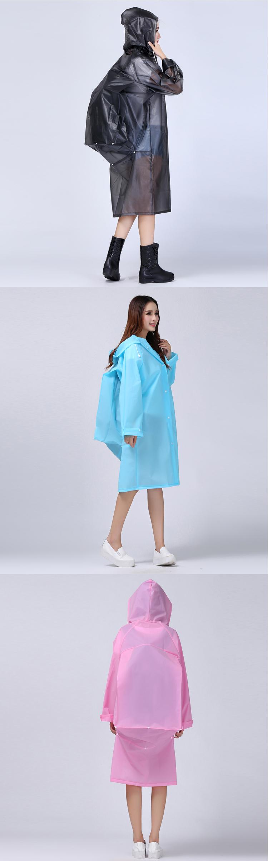 Women Transparent Portable Long Raincoats 23