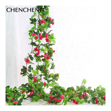 Flowers flowers Vintage Style Flower Vine Artificial Rose vine Decoration Wedding Party Hotel Garden flowers CHENCHENG(China)