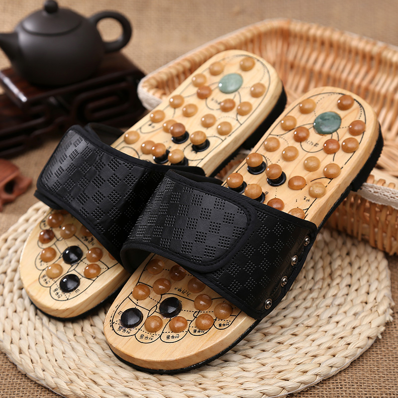 T08 Home shoes protect  Goose egg stone massage acupuncture care foot massage shoes / male female summer sandals and slippers<br>