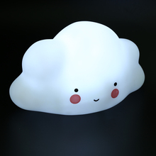Clouds Lamp Novelty Night Lights Emitting Children Room Decor Smile Face Bedroom Nursery Night Lights Mini Cloud Light(China)