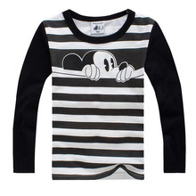 New 2017 Children's T Shirts, Hitz Cotton Long Sleeve T-shirts for Boys Girls, Hot Sale Pattern, Cute Round Neck Pullovers